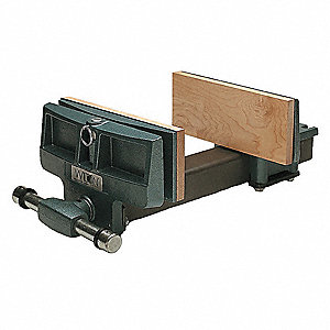"10"" Ductile Iron Woodworking Vise, 4"" Throat Depth"