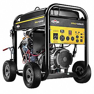 Portable Generator, 120/240 Voltage, 10000 Rated Watts, 12500 Surge Watts, 83.3/41.6 Amps @ 120/240V
