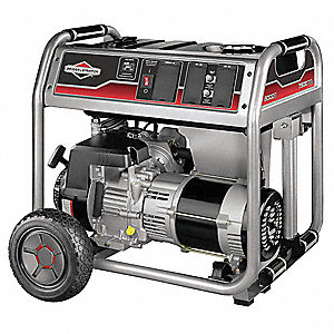 Portable Generator, 120/240VAC Voltage, 7500 Rated Watts, 9375 Surge Watts, 62.5/31 Amps @ 120/240V