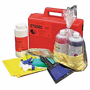 Compact Acid/Base Combo Spill Kit,Case