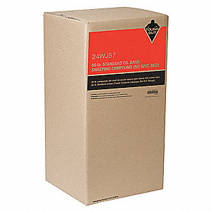 Red Gritless, Oil Based Sweeping Compound, 1 EA