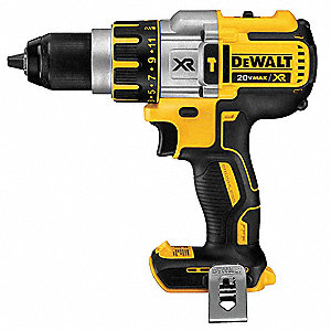 "1/2"" Cordless Hammer Drill/Driver, Voltage 20.0, Bare Tool (No Battery)"