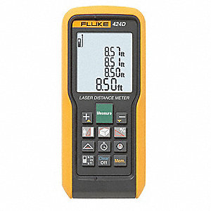 "Laser Distance Meter, ±3/32"" Accuracy, Up To 330 ft. Range"