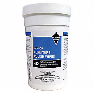 "Furniture Polish, 6 x 9"", 65 Wipes per Container, 1 EA"