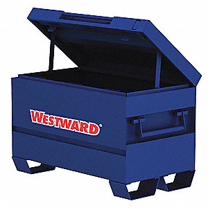 "Blue Jobsite Chest, Width: 48"", Depth: 24"", Height: 27-3/4, Storage Capacity: 15.4 cu. ft."