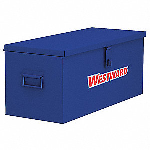 "Blue Jobsite Welders Box, Width: 30"", Depth: 16"", Height: 12"", Storage Capacity: 3.3 cu. ft."
