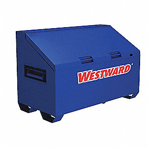 "Blue Jobsite Slope Lid Box, Width: 60"", Depth: 30"", Height: 39-1/2, Storage Capacity: 30.4 cu. ft."