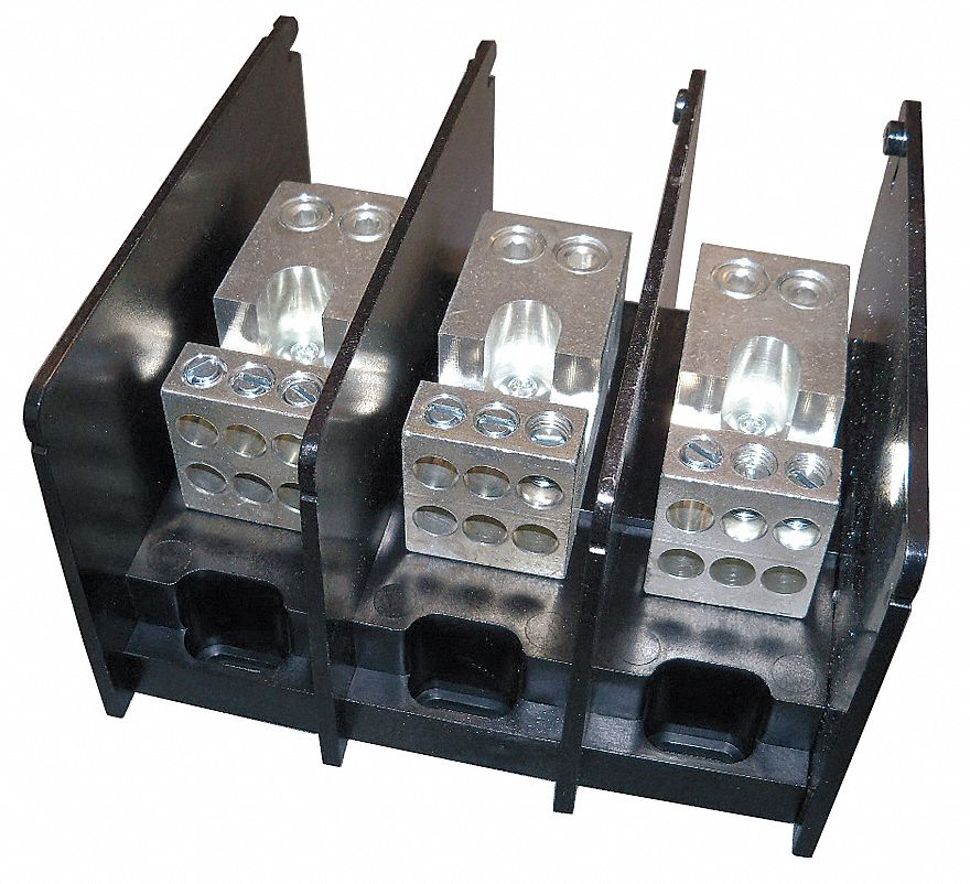 MERSEN Power Distribution Block, 350 Max. Amps, Number Of