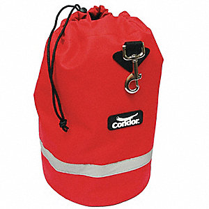 Fleece Lnd Bag,Drawstring,14x8-1/2In,Red