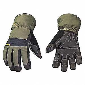"Cold Protection Gloves, Waterproof Membrane, 200g Thinsulate, 100% Poly Tricot Lining, Extended 4"" G"