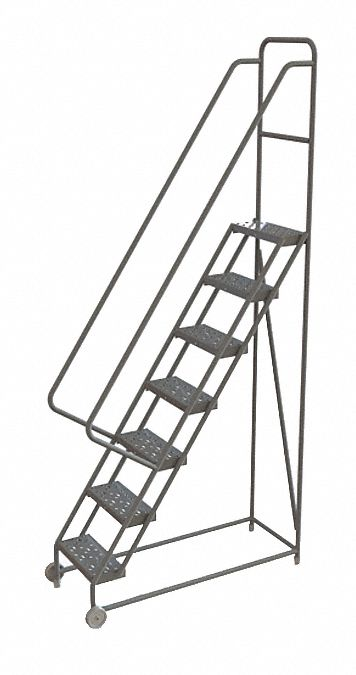 Tri Arc 7 Step Tilt And Roll Ladder Perforated Step Tread