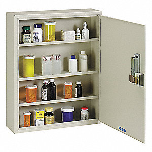 Medical Security Cabinet,Steel,Putty