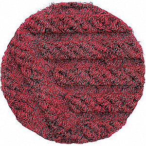 Carpeted Entrance Mat,Red,3ft. x 4ft.