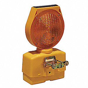 Solar Barricade Light,LED,7-1/2 In.