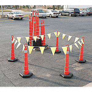 Traffic Control Kit,Orange,48 x 48 72 In