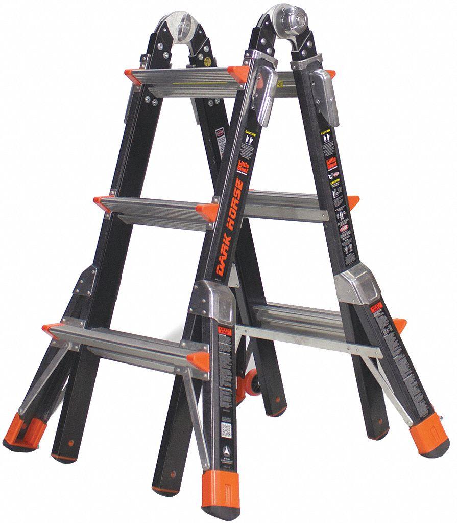 Little Giant Multipurpose Ladder 13 Ft Iaa Fiberglass