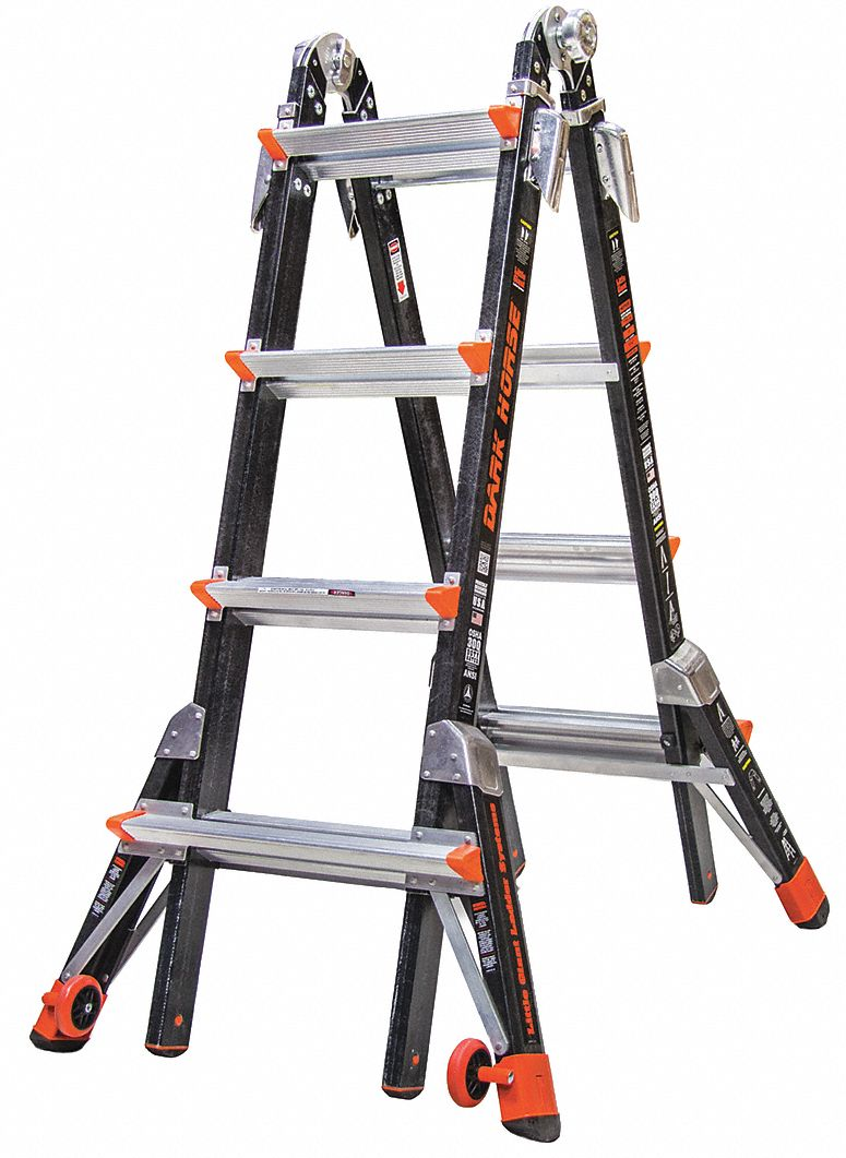 Little Giant 17 Ft Fiberglass Multipurpose Ladder 300 Lb