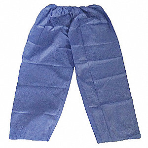 Disposable Pants, 2XL/3XL, Blue, Polypropylene Material, PK 25