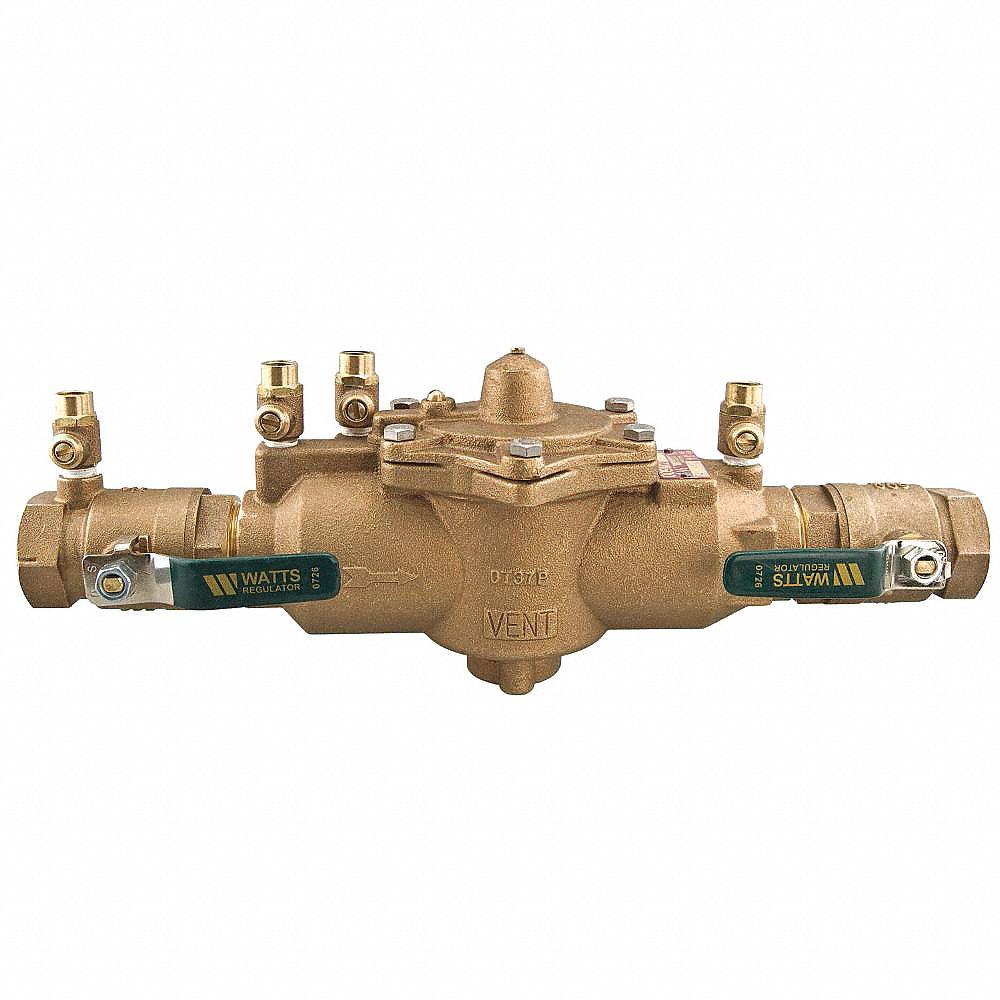 Watts Reduced Pressure Zone Backflow Preventer  Lead Free