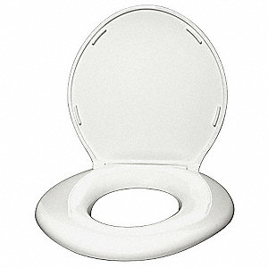 Oversized Toilet Seat, Round, With Cover