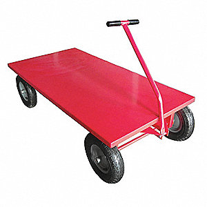 "Wagon Truck, 2000 lb. Load Capacity, Full Pneumatic Wheel Type, 12"" Wheel Diameter"