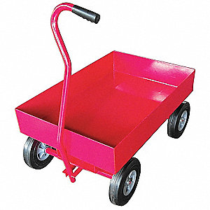 "Wagon Truck, 1000 lb. Load Capacity, Solid Rubber Wheel Type, 10"" Wheel Diameter"