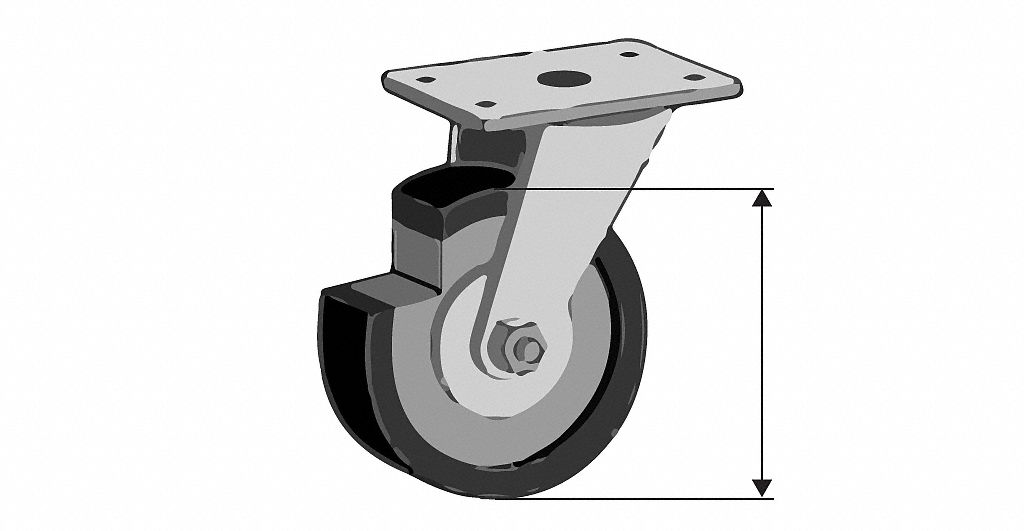 Side Mount Casters And Wheels Material Handling