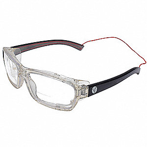 Safety Reader Glasses,Clear,Uncoated