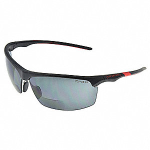 Safety Reader Glasses,Smoke,Polarized