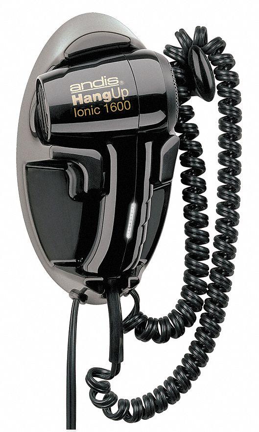 Andis Hair Dryer Wall Mounted Black 1600 Watts 28ck20