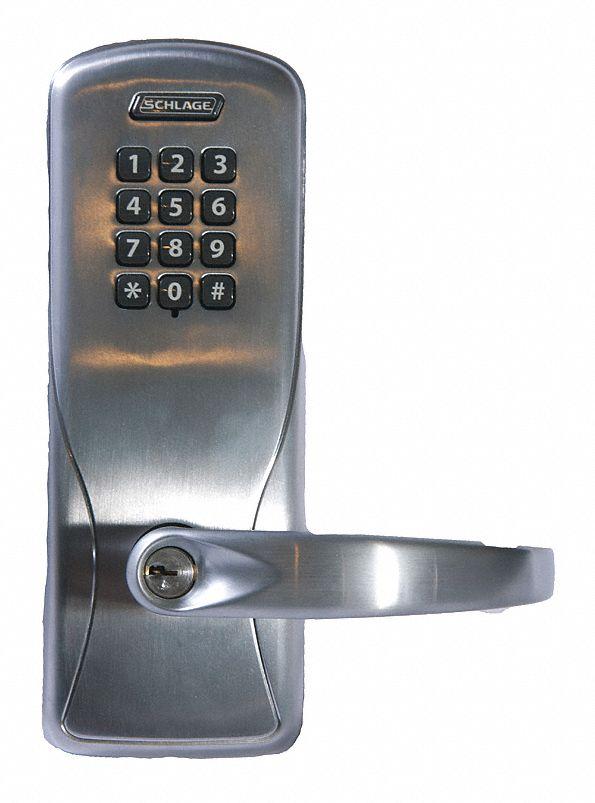 Schlage Electronics Electronic Lock 2 3 4 Quot Backset Cylindrical Satin