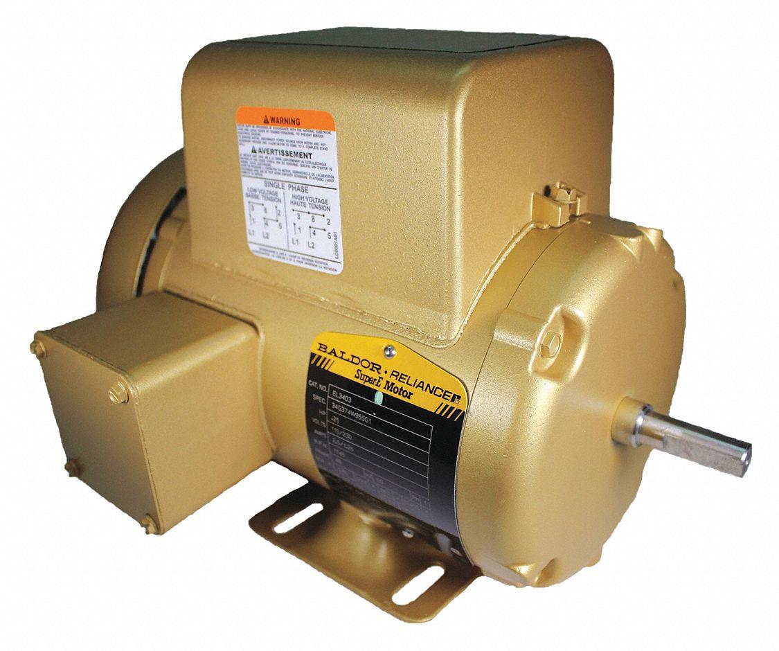 Baldor Electric Motor 1745rpm 1phase 115 230v 1 4hp Tefc