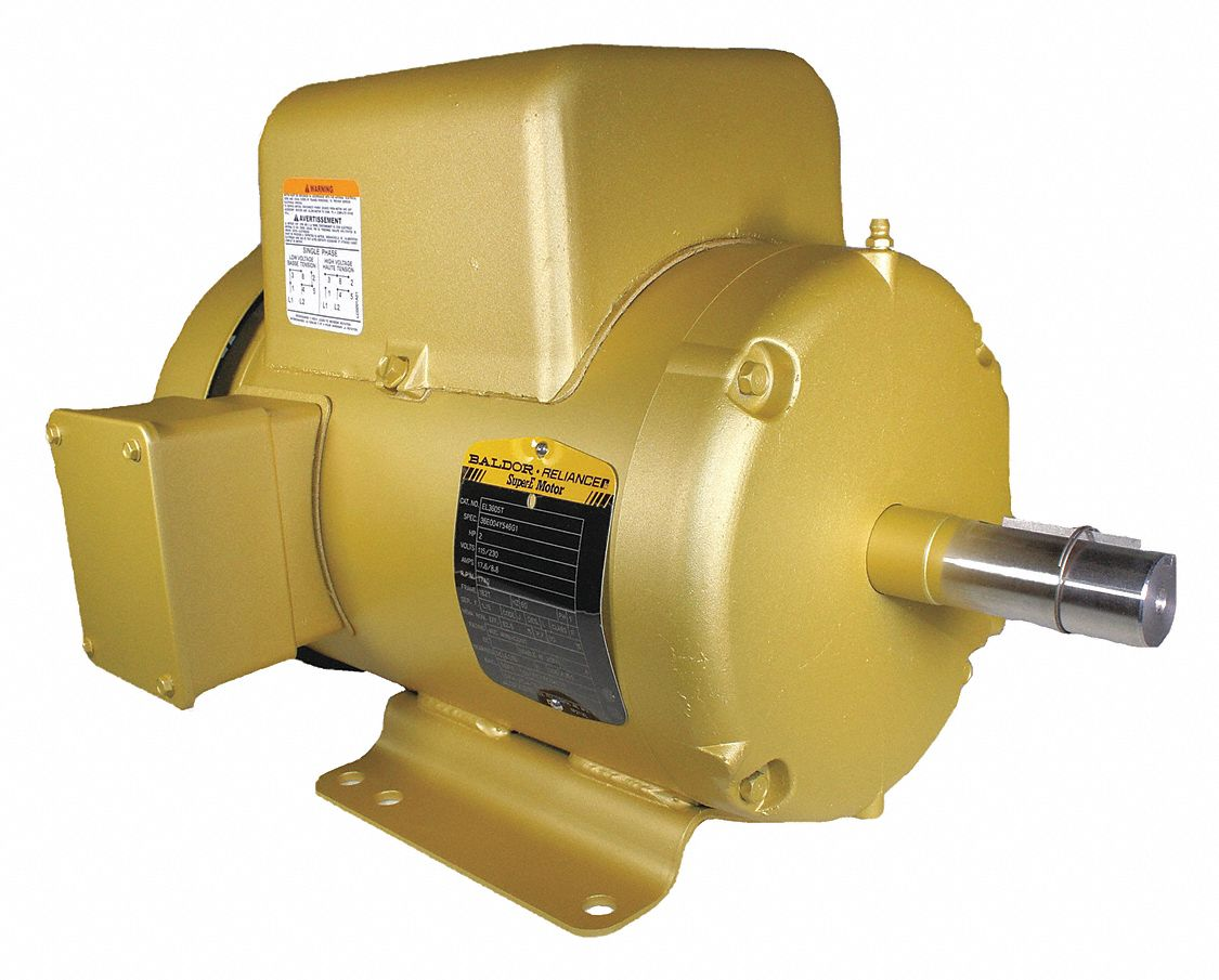 Baldor Electric Motor 1740rpm 1phase 184t 115 230v Tefc