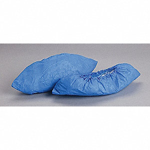 "XL Shoe Covers, Slip Resistant Sole: No, Waterproof: Yes, 5-3/4"" Height"