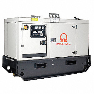 Towable Standby Generator,13.4kW,53 gal.