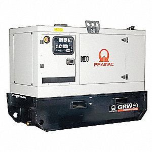 Towable Standby Generator,43.2kW,95 gal.
