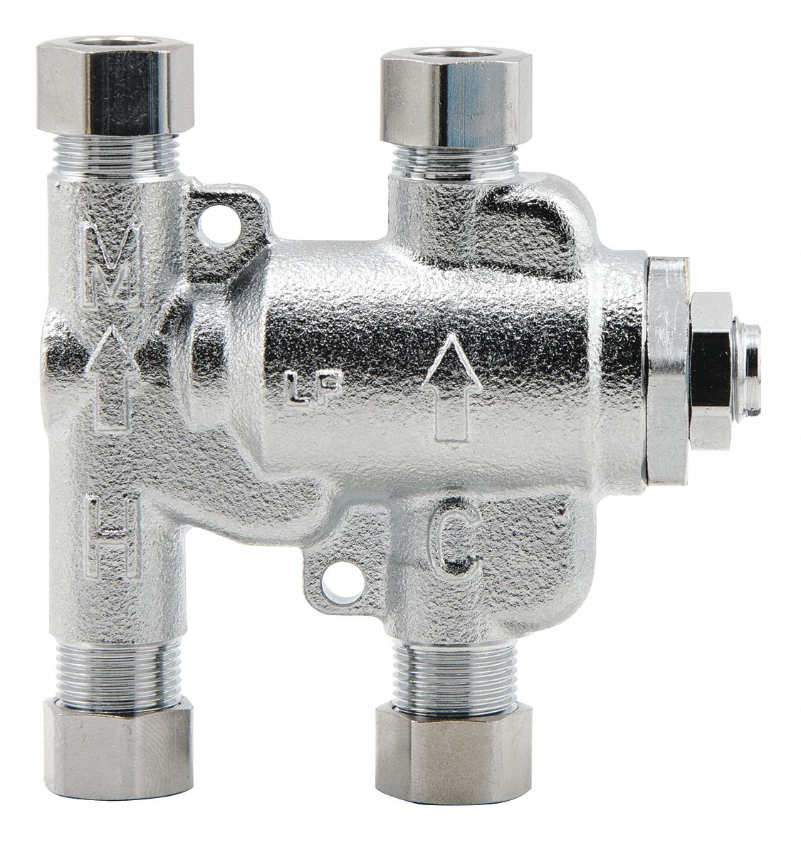 """Watts Thermostatic Mixing Valve: WATTS 3/8"""" Compression Inlet Type Thermostatic Mixing"""