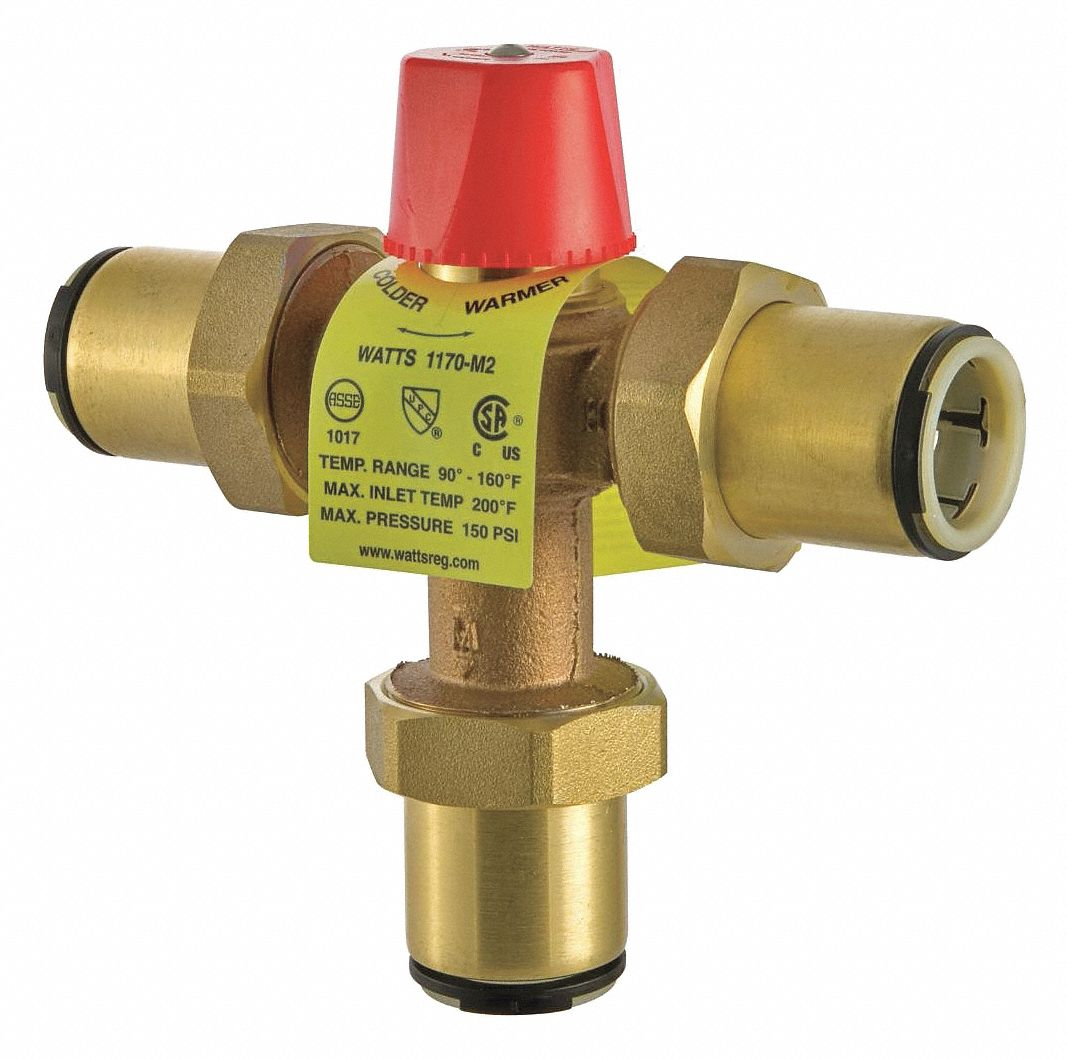"""Watts Thermostatic Mixing Valve: WATTS 1/2"""" Quick Connect Inlet Type Thermostatic Mixing"""