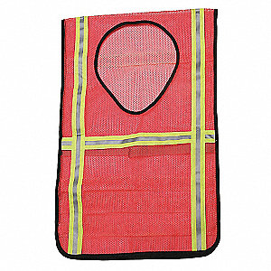 Orange High Visibility Vest, Size: Universal, 2 ANSI Class, Hook-and-Loop Closure Type