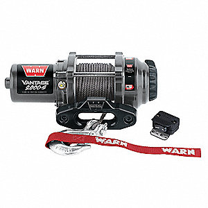 Electric Winch,1/11HP,12VDC