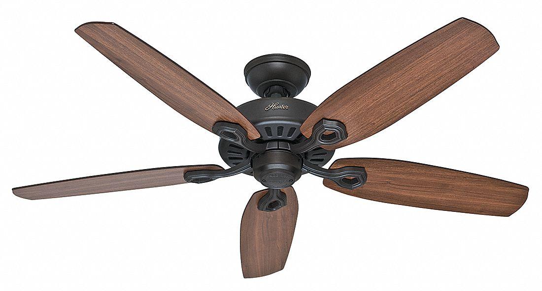 Hunter 5 Blade Decorative Ceiling Fan 120 3 Speed 52