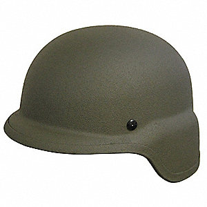 OD Green Level IIIA Lightweight Helmet, Shell Material: Aramid, Fits Hat Size: X-Large