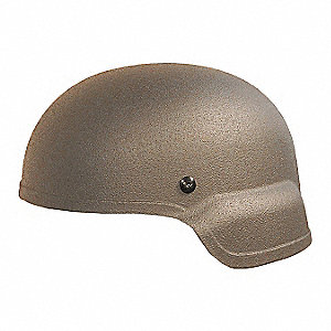 Tan Level IIIA Mid Cut Helmet, Shell Material: Aramid, Fits Hat Size: X-Large
