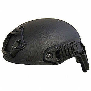 "Black Level IIIA Special Ops Helmet, Shell Material: Aramid, Pad Thickness: 1/4"", Fits Hat Size: X-L"