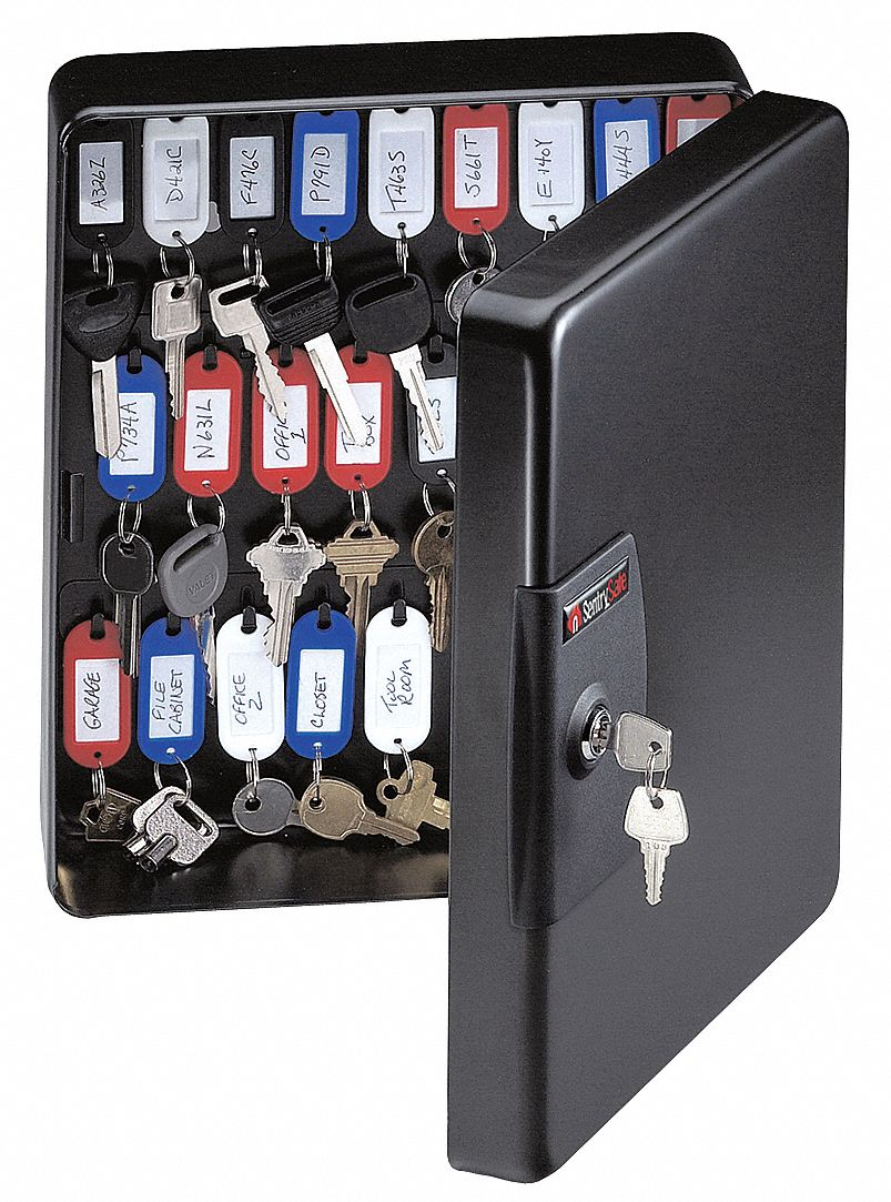 Sentry Safe Key Box Wall Mount Steel Gloss Black