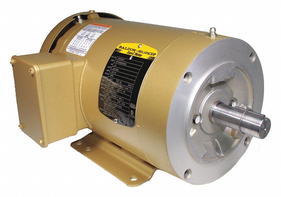 Baldor Electric Motor 3 Ph Tefc 1 1 2 Hp 3500 Rpm 143tc
