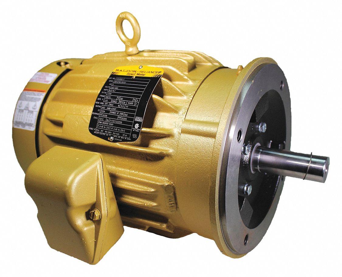Baldor Electric Motor 3 Ph Tefc 3 Hp 1755 Rpm Face