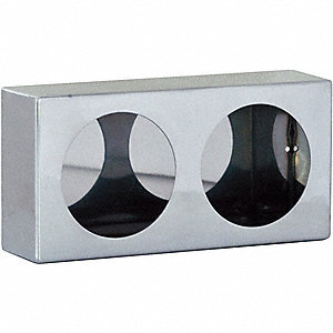 Dual RoundLight Box,6x12x3 In.,SST