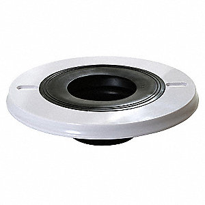 Plastic Wax Ring Cover, Black/White, For Use With Most Toilets