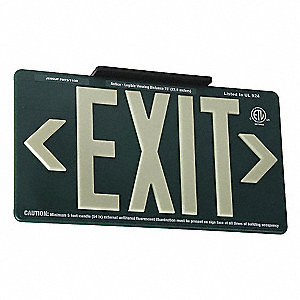 Exit Sign,English,Plastic,Surface